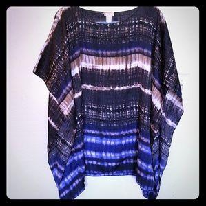 (See pics)Chicos tie dye dolman shawl blouse